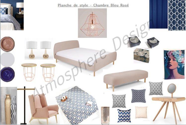 La planche de style de la semaine: Une chambre bleu saphir et rose ...